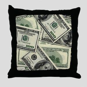 Hundred Dollars Throw Pillow