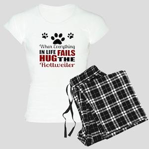 Hug The Rottweiler Women's Light Pajamas