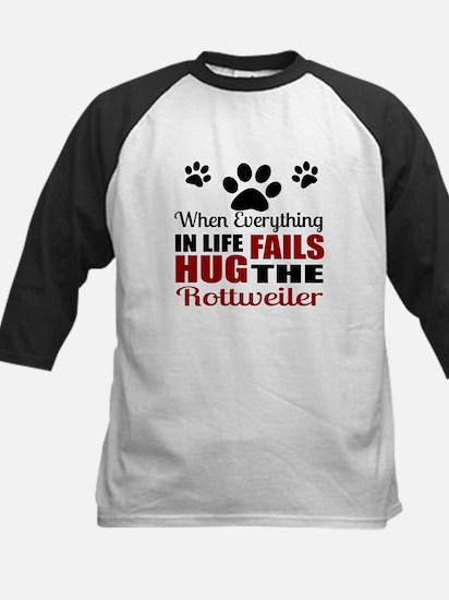 Hug The Rottweiler Kids Baseball Jersey