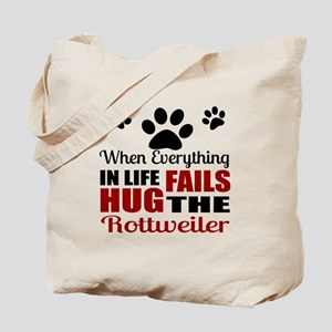 Hug The Rottweiler Tote Bag