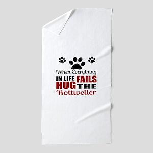 Hug The Rottweiler Beach Towel