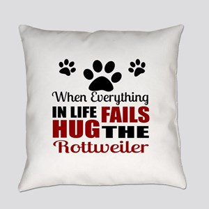 Hug The Rottweiler Everyday Pillow