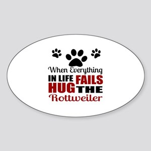 Hug The Rottweiler Sticker (Oval)