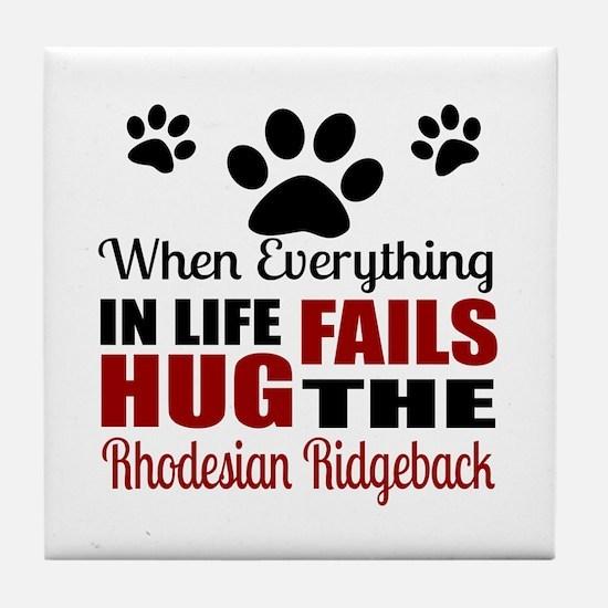 Hug The Rhodesian Ridgeback Tile Coaster
