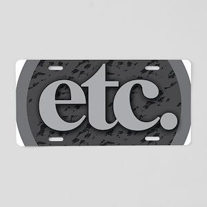 Etc. - Etc - Gray and Black Aluminum License Plate