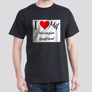 I Love My Norwegian Boyfriend Dark T-Shirt