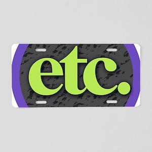 Etc. - Etc - Lime Purple Gr Aluminum License Plate