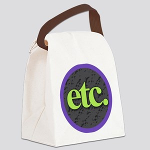 Etc. - Etc - Lime Purple Gray Canvas Lunch Bag