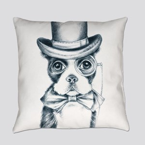 Cute Boston Terrier Everyday Pillow