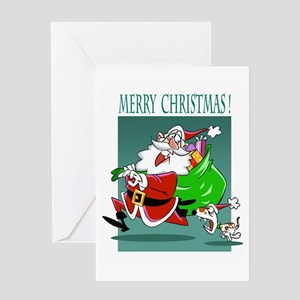 Merry Christmas Santa Greeting Cards