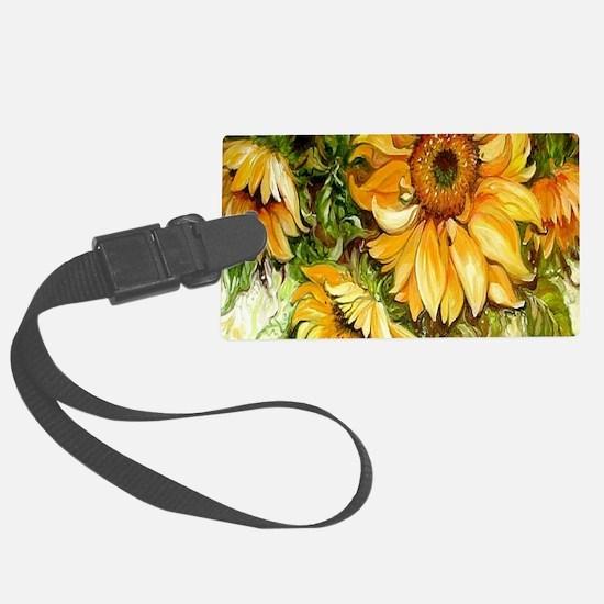Pretty Sunflowers Luggage Tag