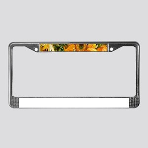 Pretty Sunflowers License Plate Frame