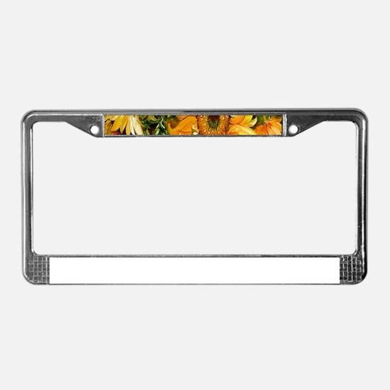 Pretty Sunflowers License Plate Frame