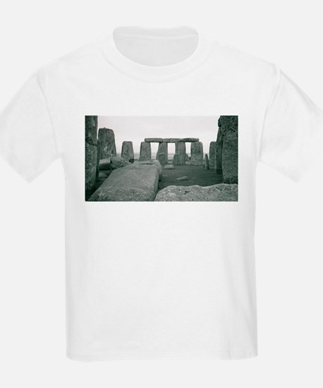 Stonehenge in B&W Kids T-Shirt