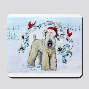 Wheaten Terrier Christmas Mousepad