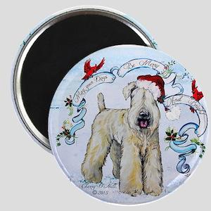 Wheaten Terrier Christmas Magnets