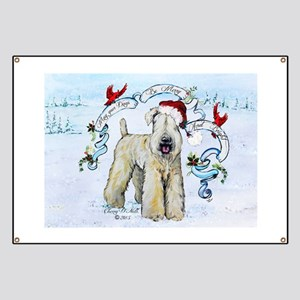 Wheaten Terrier Christmas Banner
