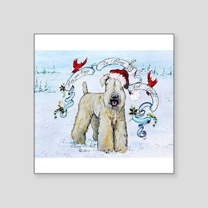 Wheaten Terrier Christmas Sticker