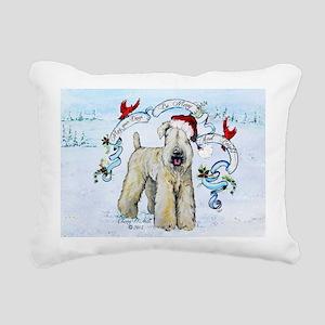 Wheaten Terrier Christmas Rectangular Canvas Pillo