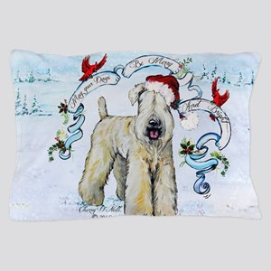 Wheaten Terrier Christmas Pillow Case