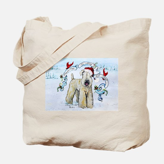 Wheaten Terrier Christmas Tote Bag