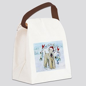Wheaten Terrier Christmas Canvas Lunch Bag