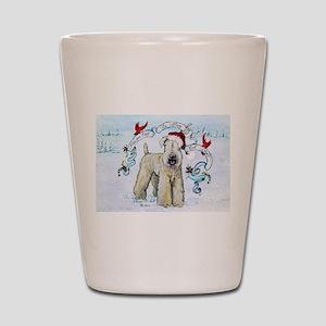 Wheaten Terrier Christmas Shot Glass