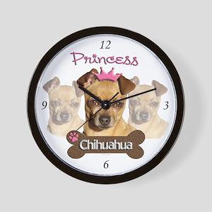 Princess Chihuahua Home or Office Wall Clock