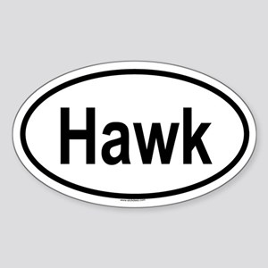 HAWK Oval Sticker