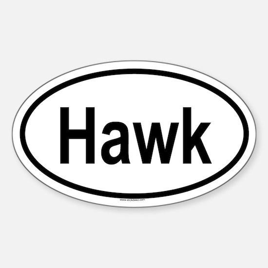 HAWK Oval Decal