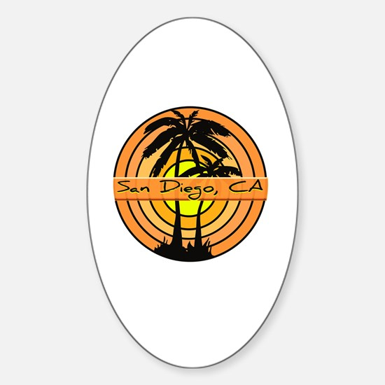 Cute Orange ca Sticker (Oval)