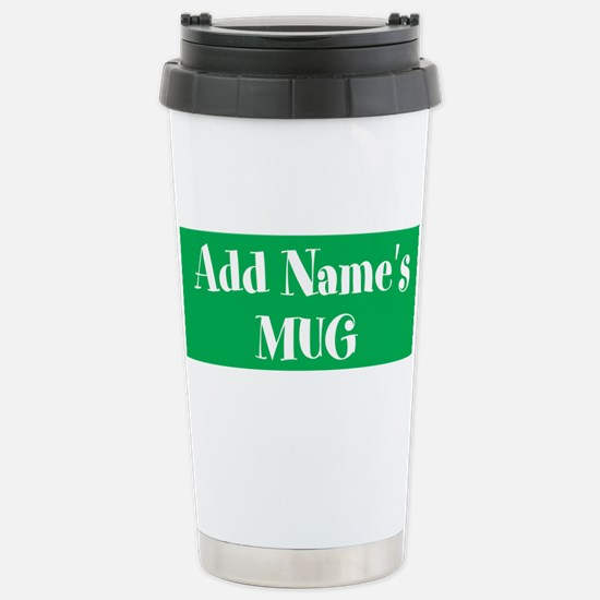 GREEN Personalized Travel Mug