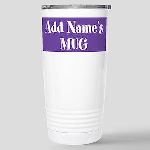 PURPLE Personalized Travel Mug