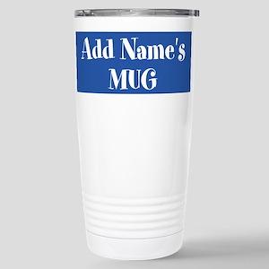 BLUE Personalized Travel Mug