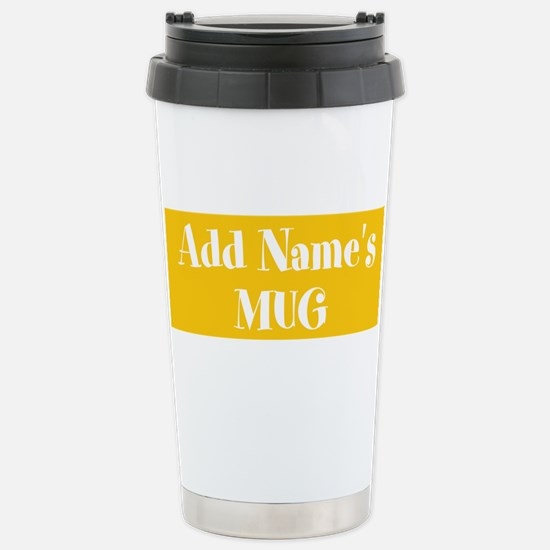 YELLOW Personalized Travel Mug