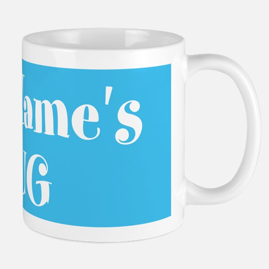 LIGHT BLUE Personalized Small Mugs
