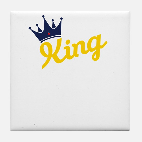 king and quen couple Tile Coaster