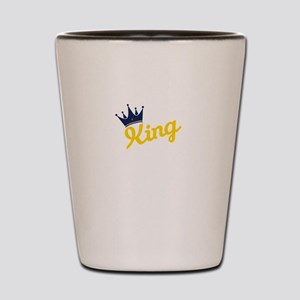 king and quen couple Shot Glass