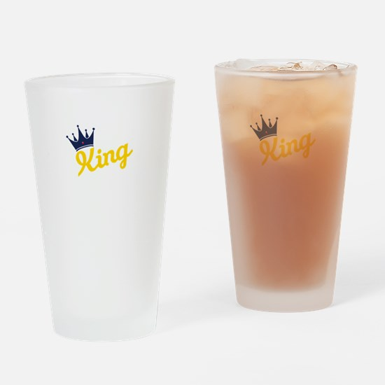 king and quen couple Drinking Glass