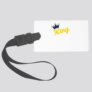 king and quen couple Large Luggage Tag