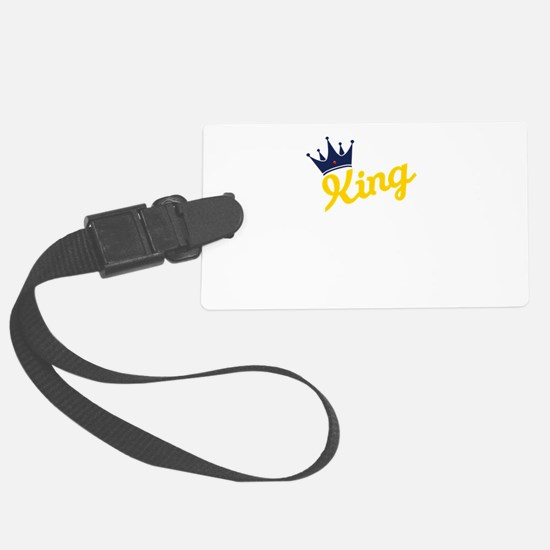 king and quen couple Luggage Tag