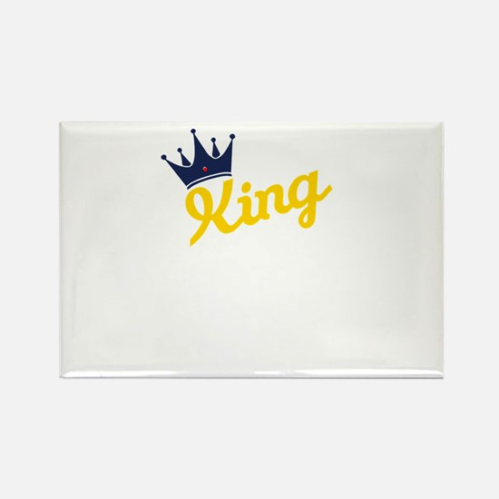 king and quen couple Magnets