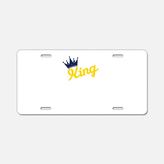 king and quen couple Aluminum License Plate