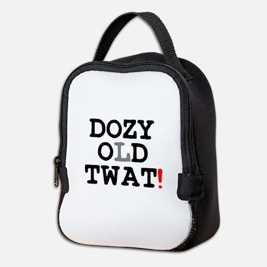 DOZY OLD TWAT! Neoprene Lunch Bag