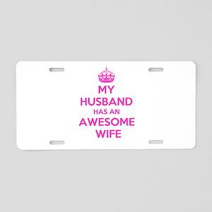 mu husband has an awesome w Aluminum License Plate