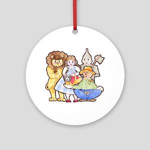 Wizard Of Oz Round Ornament