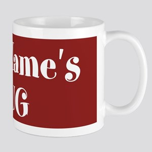 DARK RED Personalized Mug