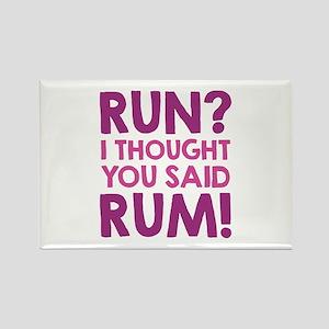 Run Rum Rectangle Magnet