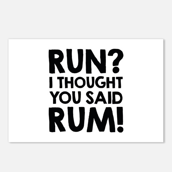 Run Rum Postcards (Package of 8)