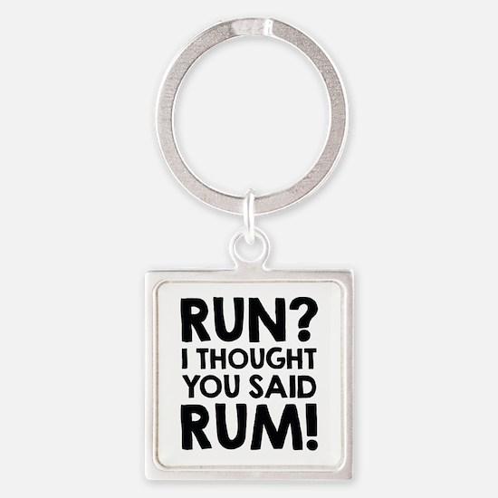 Run Rum Square Keychain